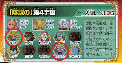 dragon ball super the V-jump magazine unveiled the two missing warriors of universe 4