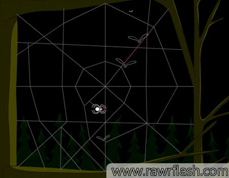 Spider simulator, ou Simulador de aranha simula a visa simples mas talvez perigosa de uma pequena aranha vivendo em alguns galhos de árvore.