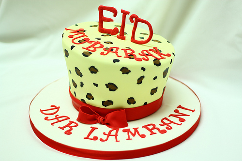 Eid Wishes cake