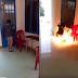 Hùa theo phong trào nói là làm, nữ sinh cấp 2 tẩm xăng đốt trường học