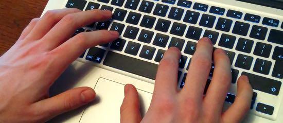 Photograph of computer keyboard