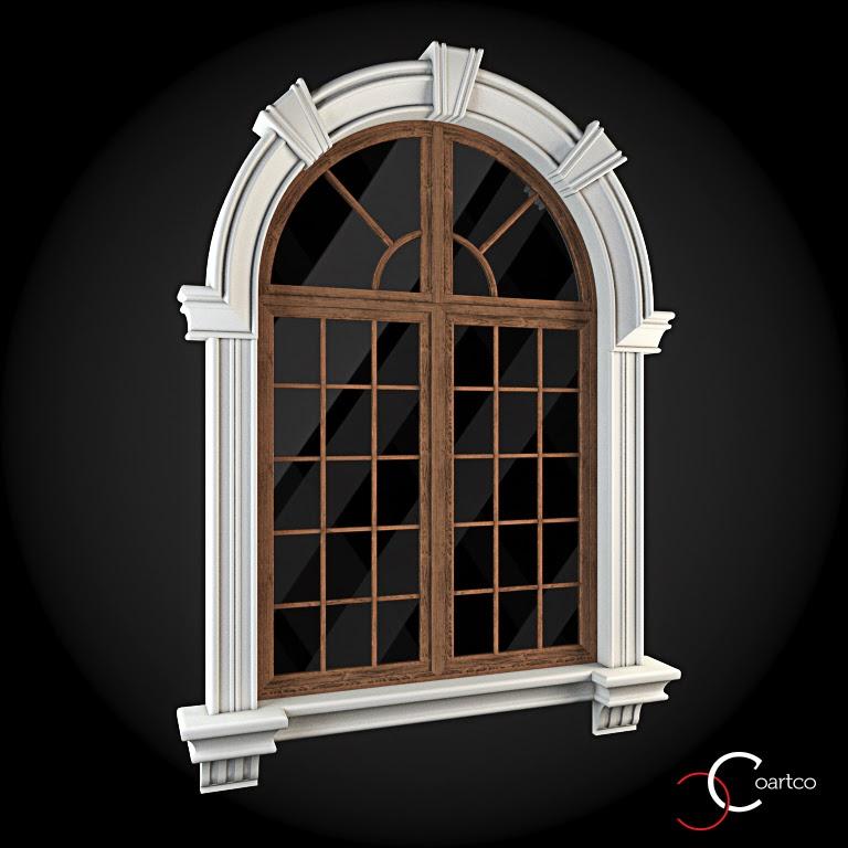 Ornamente Geamuri Exterior, Arcada fatade case cu profile decorative polistiren, profile fatada,  Model Cod: WIN-024
