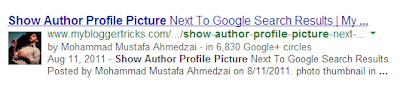 Author name and profile picture in SERP