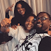 Cute photo of Daniel Ademinokan, his partner Stella Damassus and his son
