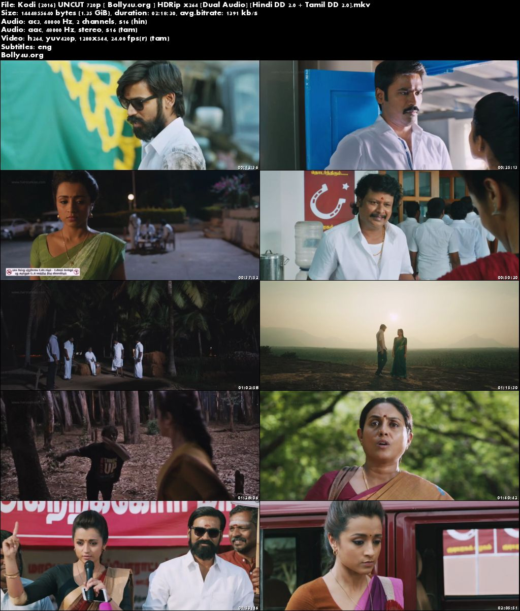 Kodi 2016 HDRip 720p UNCUT Hindi Dubbed Dual Audio Download