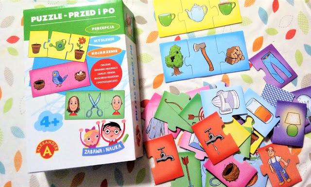 """""""Puzzle - przed i po"""" Alexander - recenzja, recenzje gier dla dzieci"""