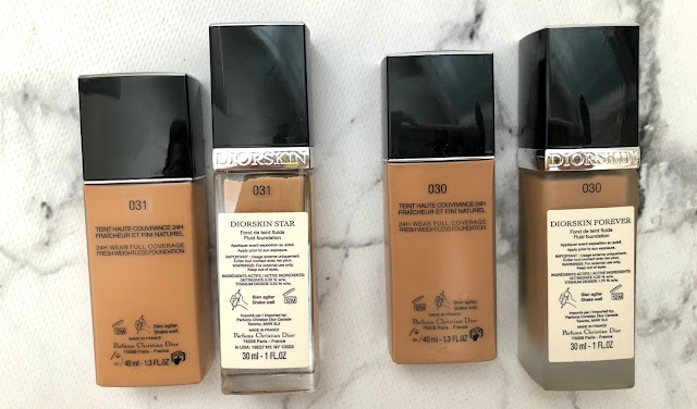 dior forever vs dior star foundation swatch
