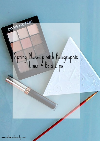 Easy Spring Makeup With Holographic Liner