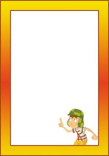 Marcos, Invitaciones, Tarjetas o Etiquetas del Chavo del 8 para Imprimir Gratis.
