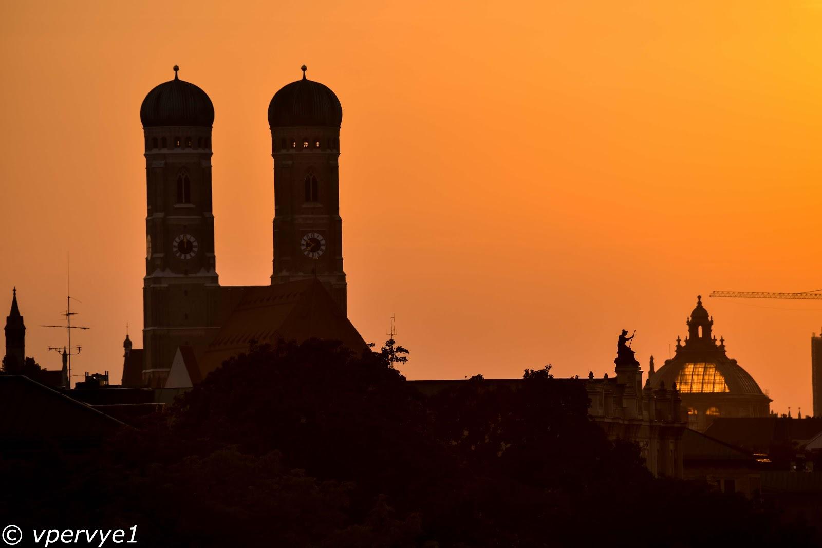 Закат в Мюнхене