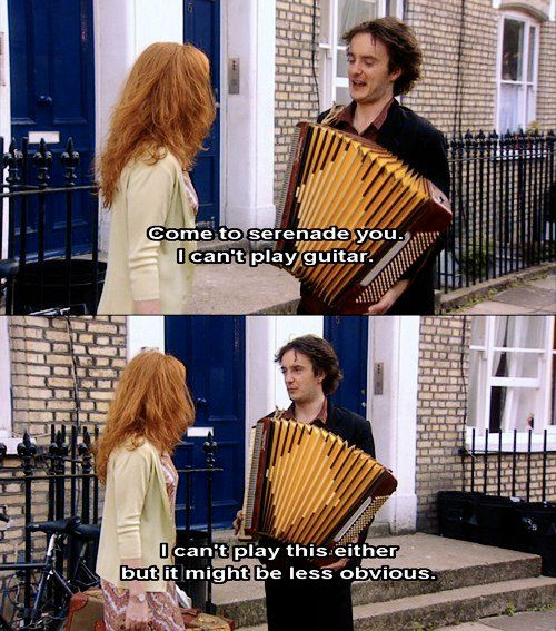 A funny captioned scene from Black Books