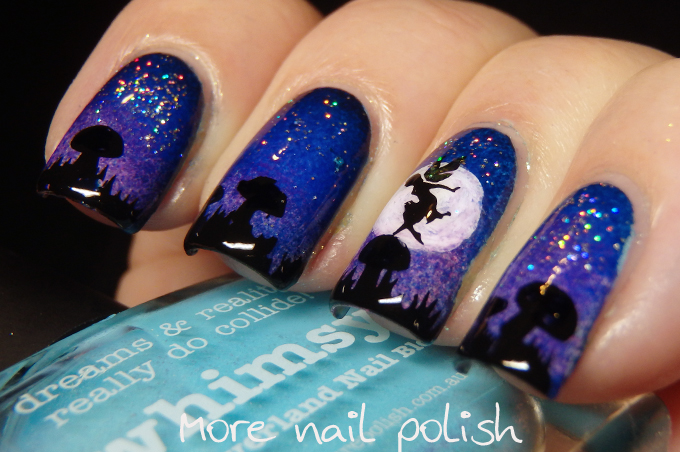 The Digital Dozen does Whimsy - Fairy at night ~ More Nail Polish