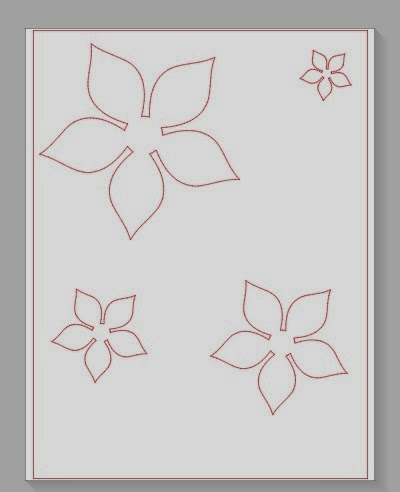 Cut, Silhouette, different paper, one cut, Silhouette tutorial, flower