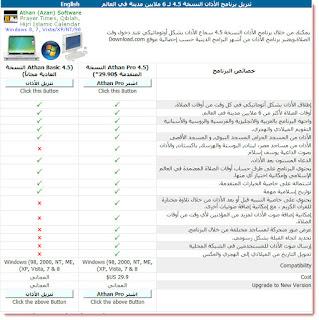تحميل النسخة المدفوعة من برنامج الأذان Athan Pro 4.5 للحاسوب مجانا