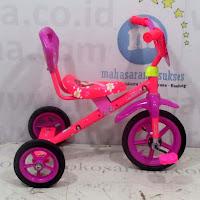 Sepeda Roda Tiga BMX ET1225 Sandaran Pink