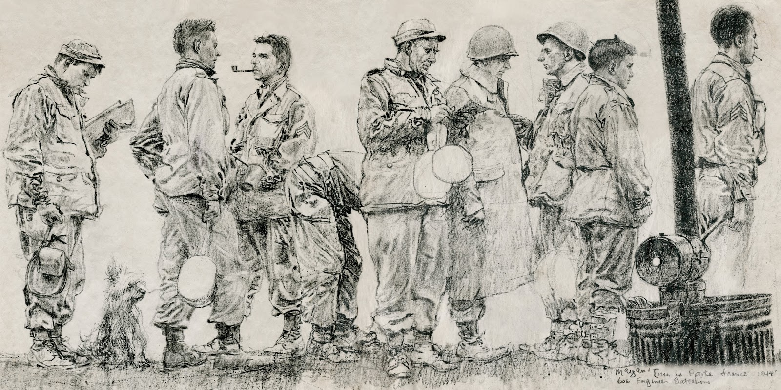 Gurney Journey: Earl Mayan's World War II Drawings