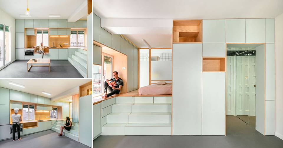 z The Design Of This Renovation Small Apartment Includes Many Creative Storage Solution Ideas Interior
