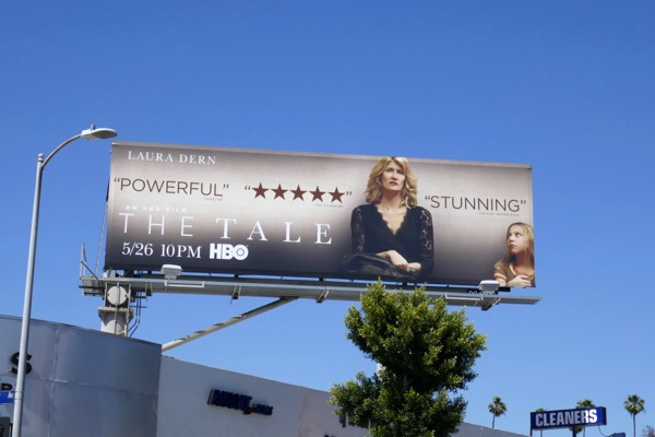 Laura Dern The Tale movie billboard