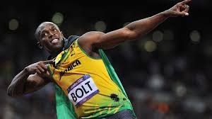 Jamaica's Usain Bolt became the first athlete to win three Olympic 100m titles