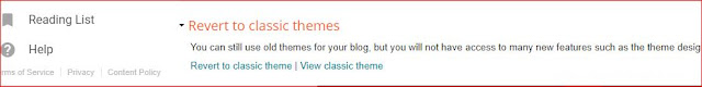 Revert to Classic themes