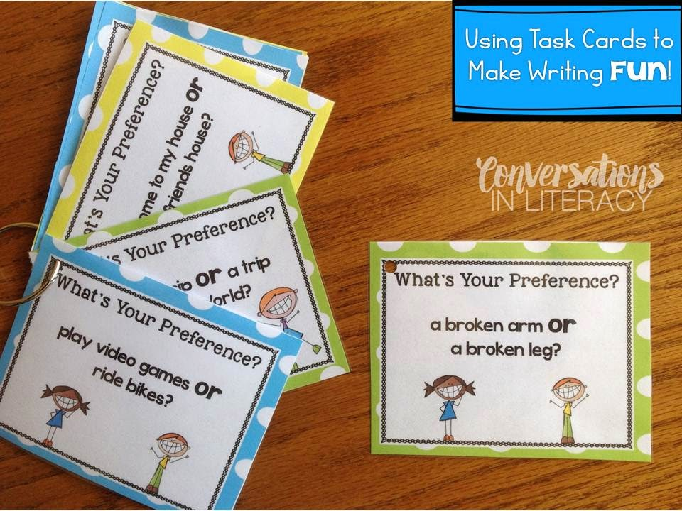 Task Cards for Teaching Opinion Writing