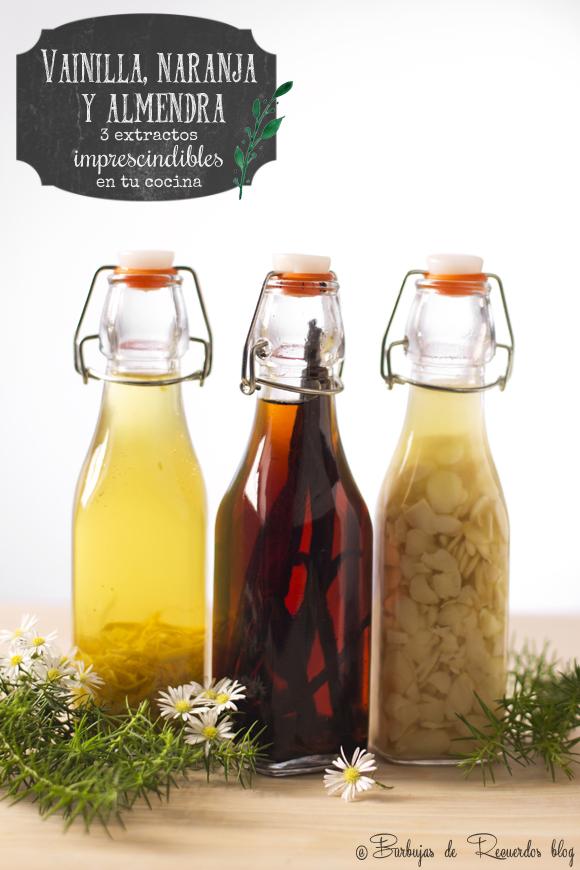 Los tres extractos básicos que debes tener en tu cocina: vainilla, naranja y almendra