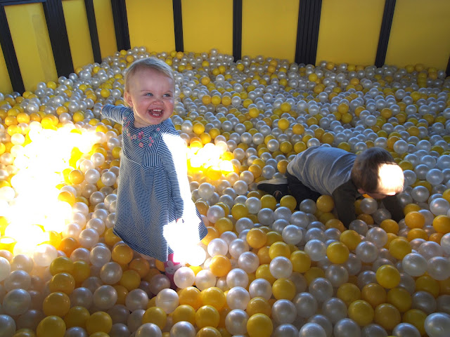 Ball Pool fun at JCB cabins Gulliver's Land, Milton Keynes