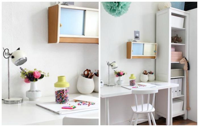 escritorio y estantería para habitación infantil de Ikea