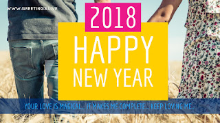 Love greetings for happy new year 2018