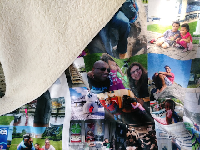 Customized sherpa blanket from Collage.com