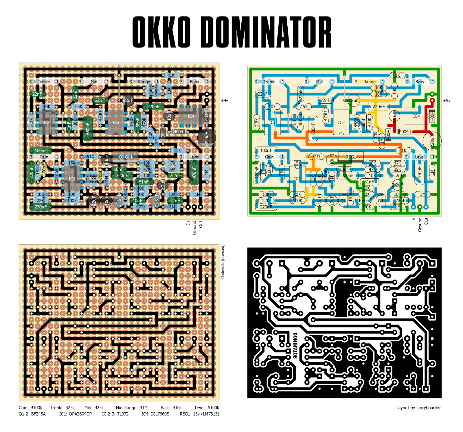 Perf and PCB Effects Layouts: OKKO Dominator Okko Diablo Schematic on