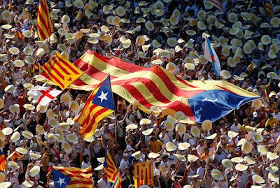 Manifestación a favor de la independencia de Cataluña durante la celebración del día de 'La Diada' Albert GeaReuters