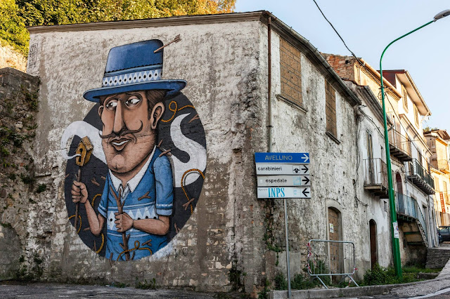 SeaCreative just sent us some nice images from his newest piece which was just completed somewhere on the streets of Ariano Irpino, a municipality in the province of Avellino, in the Campania region of Italy.