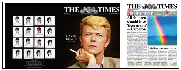 times bowie coverage