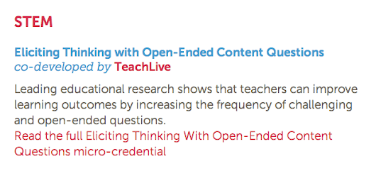Earn a Micro-credential in TeachLivE!