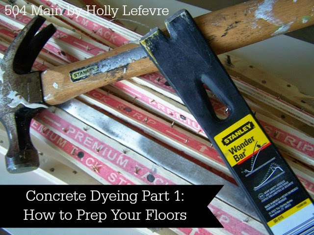 How to Stain or Dye Concrete Floors