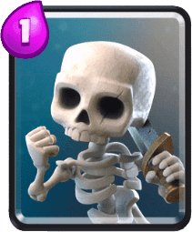 Carta Esqueletos de Clash Royale - Cards Wiki