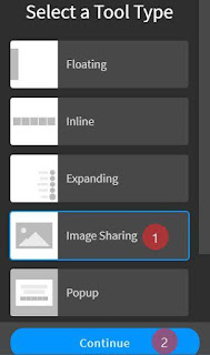 add socail image sharing button on blog