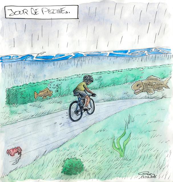la pluie à vélo