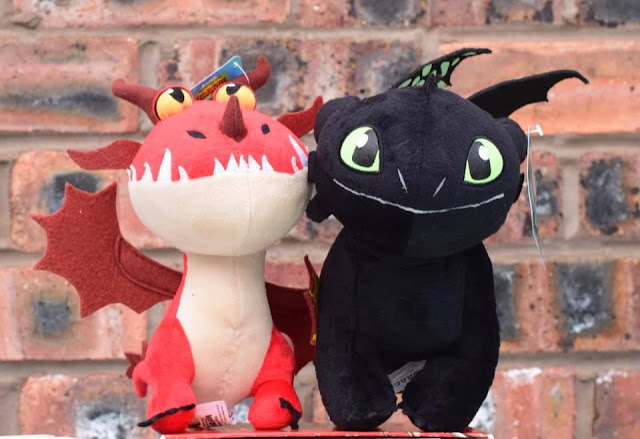 Hookfang and Hiccup plush toys HTTYD