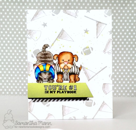 Football Season Card by Samantha Mann | Touchdown Tails Stamp Set by Newton's Nook Designs #newtonsnook #handmade