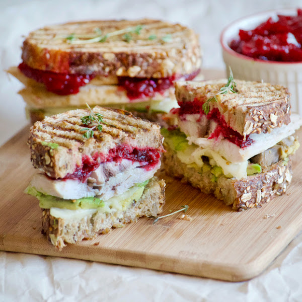 Turkey Cranberry Avocado Panini