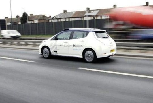 For the First Time Car Autonomous Nissan circulating in Europe
