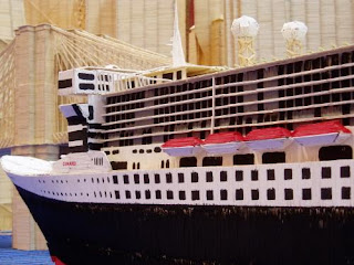 Titanic con palillos de dientes.