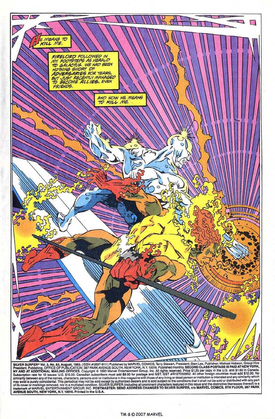Read online Silver Surfer (1987) comic -  Issue #83 - 3