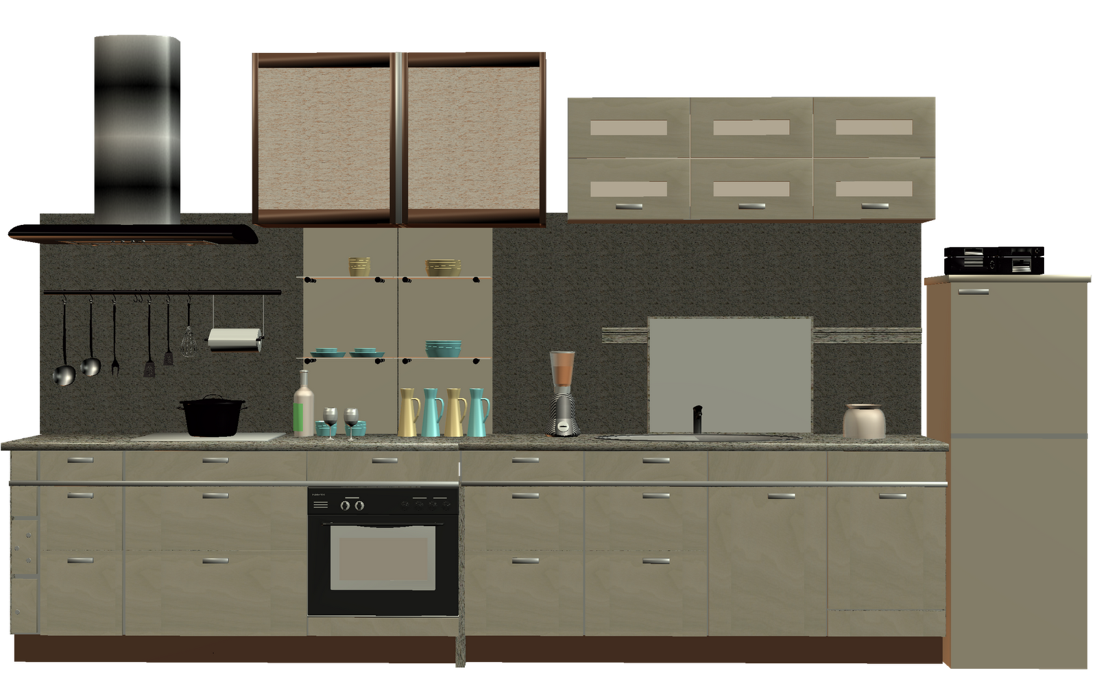 Linear Kitchen With Island