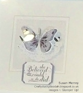 Stampin' Up! Made by Susan Simpson (Merrey) Independent Stampin' Up! Demonstrator, Craftyduckydoodah!, Watercolour Wings, Butterflies Thinlets, Bold Butterfly Framelits,