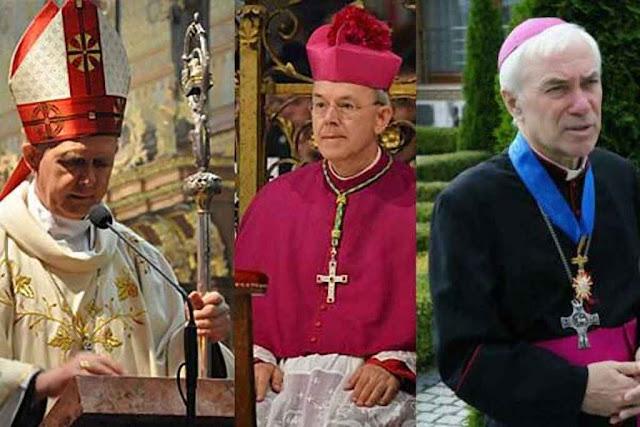 D. Tomash Peta, Arcebispo Metropolita de Astana, D. Athanasius Schneider, Bispo Auxiliar de Astana e D. Jan Pawel Lenga, Arcebispo-Bispo emérito de Karaganda