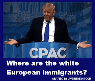 CPAC 2013 - Donald Trump asks where are the white European immigrants?