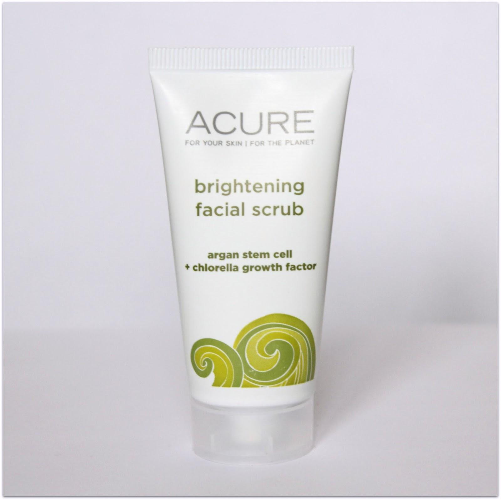 Acure Organics Brightening Facial Scrub Review